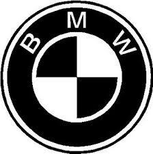 black and white bmw logo logo vinyl cut decal