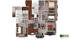 luxury 3d floor plan residential home view yantram architectural