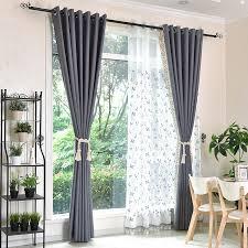 rideau fenetre chambre paire de rideaux simples épais et occultant de couleur grise le