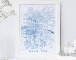 winnipeg map winnipeg map etsy