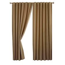 Home Depot Blackout Shades Absolute Zero Total Blackout Cafe Faux Velvet Curtain Panel 63 In