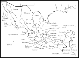 map of mexico with states mexico state names