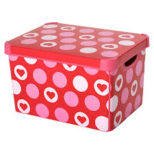 Decorative Storage Boxes With Lids Hearts