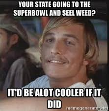 Super Bowl Weed Meme - your state going to the superbowl and seel weed it d be alot cooler