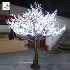 uvg led artificial white led tree lighted home decoration 10ft high