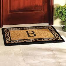 front door charming monogrammed front door mat ideas
