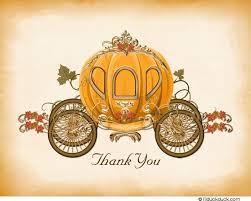 pumpkin carriage pumpkin carriage thank you card princess fall leafy