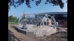 Geodesic Dome House Geodesic Dome Time Lapse Build Using Solardome Pro Architectural