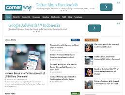 corner mag fully responsive blogger template free download pak