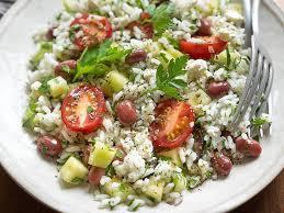 cuisine salade de riz salade de riz méditerranéenne une recette soscuisine