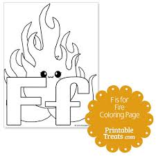 fire coloring u2014 printable treats