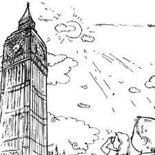 landmark london big ben coloring coloring sun