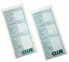 amazon com 2 classic clue replacement card notepad sheets toys