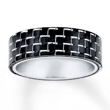 carbon fiber wedding band men s wedding band black carbon fiber stainless steel