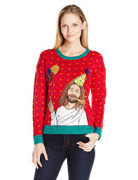 blizzard bay men u0027s breakdancing jesus ugly christmas sweater at
