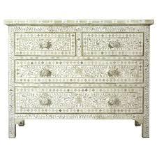 white bone inlay chest of drawers iris furnishing