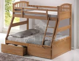 Bunk Bed For 3 Barbican Oak 3 Sleeper Bunk Bed Hardwood The Artisan Bed Company