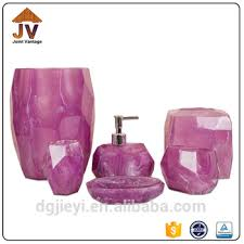 Clear Bathroom Accessories by Clear Poly Resin Bath Accessory Bathroom Set Purple Bathroom