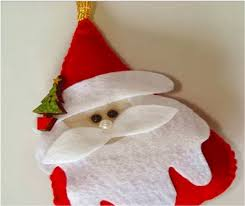 diy decoration felt santa find projects to