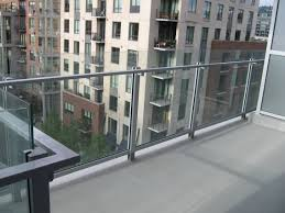 commercial glass railing hansen architectural systems