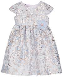 blueberi boulevard brocade fit flare dress toddler