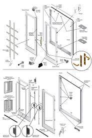 Patio Door Weatherstripping 200 Series Double Hinged Patio Door Parts Diagram