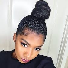 natural hair bun styles with bang blessedprincesa https m youtube com watch v