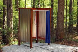 Outdoor Shower Curtains Beautiful Outdoor Shower Curtains Ideas With Build An Outdoor