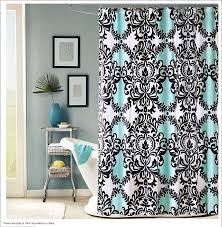 Black White Turquoise Teal Blue by Teal And Black Shower Curtain Blue Mandala New Home Decor Liner 13
