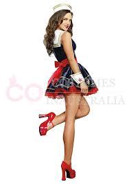 pin up girl costume navy sailor girl rockabilly pin up fancy dress