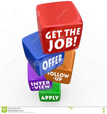get the job application process interview follow up offer stock