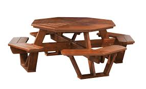 Red Cedar Octagon Walk In Picnic Table by Cedar Wood Octagon Picnic Table From Dutchcrafters Amish Furniture