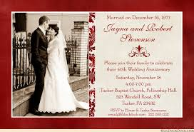 40th anniversary invitation wedding photo ruby