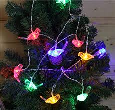 shhe battery operated string lights bird shape decorative fairy
