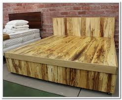 diy king size bed frame with storage plans home design ideas