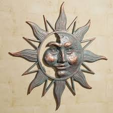 outdoor half sun outdoor metal wall decor