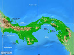 Map Caribbean Sea by Panama Physical Map A Learning Family