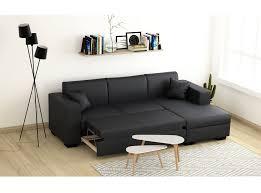 canapé angle lit canapé d angle 4 places simili cuir tendance