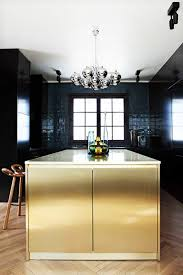 black modern kitchen cabinets what s hot 8 beautiful gold brass and hammered metal kitchens