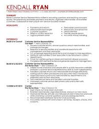 customer service resume best retail customer service representative resume exle livecareer