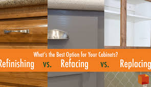 is it better to refinish or replace kitchen cabinets refinishing vs refacing vs replacing best option for