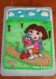 cake believe dora and boots