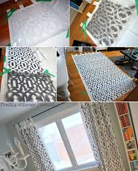 Moroccan Style Curtains Diy Stencil Ideas Moroccan Stenciled Curtains Stencil Stories