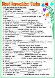 77 free esl verb form worksheets