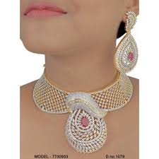 cubic zirconia necklace set images India indian cubic zirconia diamond jewelry set on global sources jpg