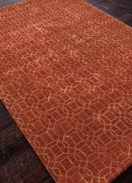 Orange Area Rug 5x8 Jaipur Rugs Rug100702 Floor Coverings Tufted Geometric