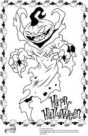 scary halloween coloring pages printables adults picture