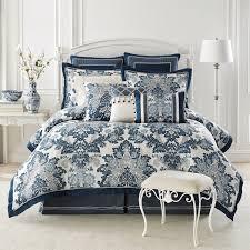 amazon com croscill diana 4 piece king comforter set blue