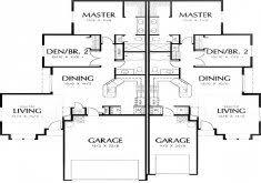 exceptional duplex plans narrow lot duplex house plans series php