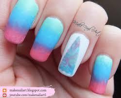 make nail art abstract triangle ombre nail art design tutorial